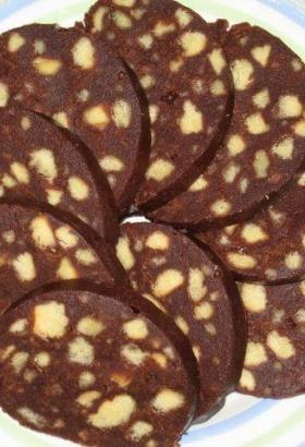 как приготовить шоколадную колбасу в домашних условиях